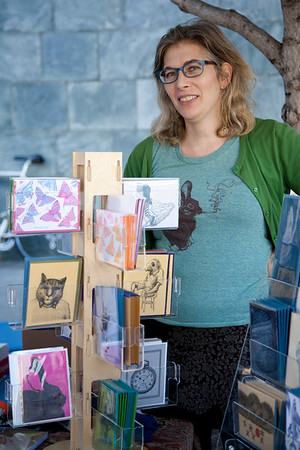 Maia Karolina de Raat, Dandy Lion Press (dandylionpress.com), a vendor during the 2013 SFCB Roadworks Street Fair on September 29, 2013.