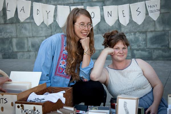 Ladybones Print Collective, vendors at the 2013 SFCB Roadworks Street Fair on September 29, 2013.