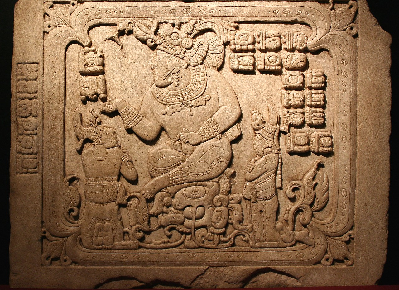 Ruler in a watery cave. 795 AD. Cancuen, Guatemala
