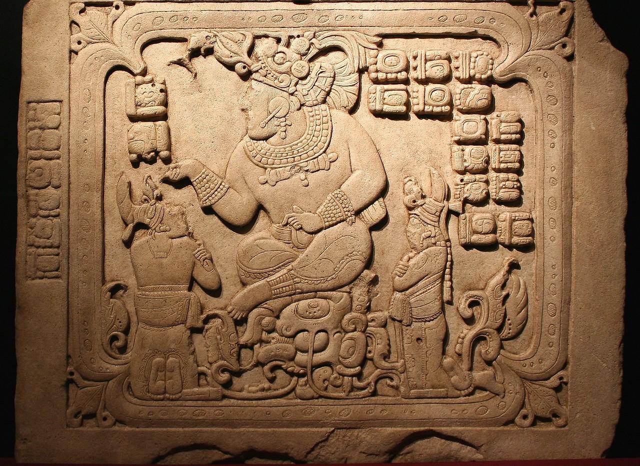 Ruler in a watery cave. 795 AD. Cancuen, Guatemala