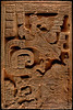 "<a href=""https://www.peabody.harvard.edu/CMHI/detail.php?num=25&site=Yaxchilan&type=Lintel#"" target=""_blank"">Lintel 25 from Yaxchilan</a> contains a rare example of a right-to-left text. Dedicated in 723, it depicts Lady Xoc, peering up at the Vision Serpent, from whose mouth appears a fully armed dynastic ancestor. In this reversed text, the Calendar Round date 5 Imix 4 Mak  [23 Oct 681] is seen on the upper right."