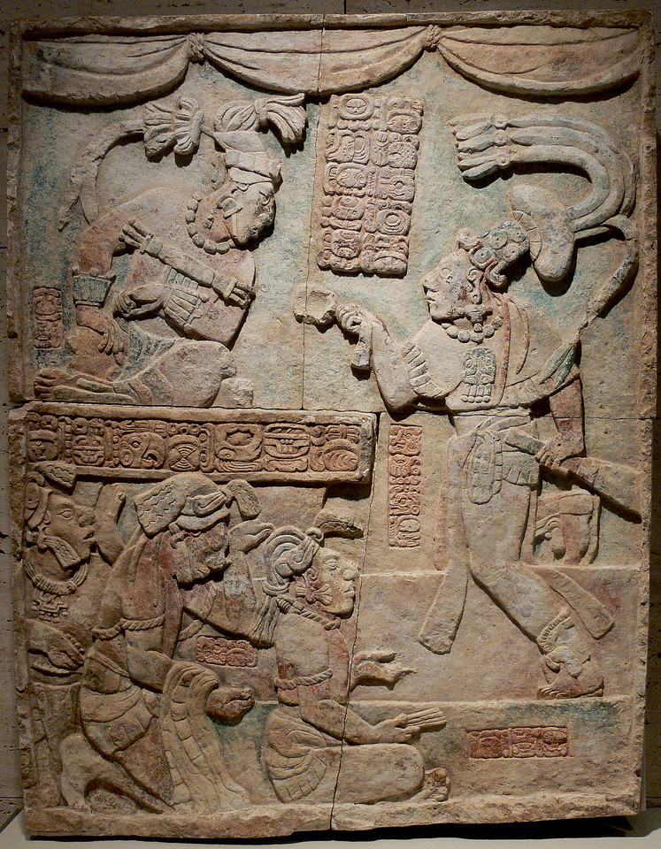 The Kimbell Panel. Depicts a warrior presenting captives (which may be captured scribes) to a king.