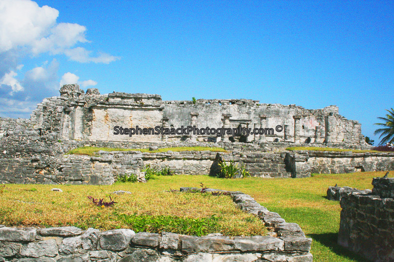 This structure is called the Pinturas  and  is one  of the mayan ruins  at  Tulum  National Park, Tulum,  Mexico.
