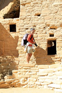 Manuel visiting the dwellings