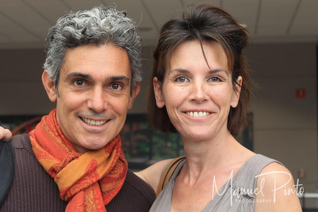 Manuel and Emmanuelle at Denver Airport<br /> May 2013