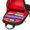 """AW18 Mayfair Mini Beaufort Backpack 12"""" 119-416-BLK2 Side Open with Items"""