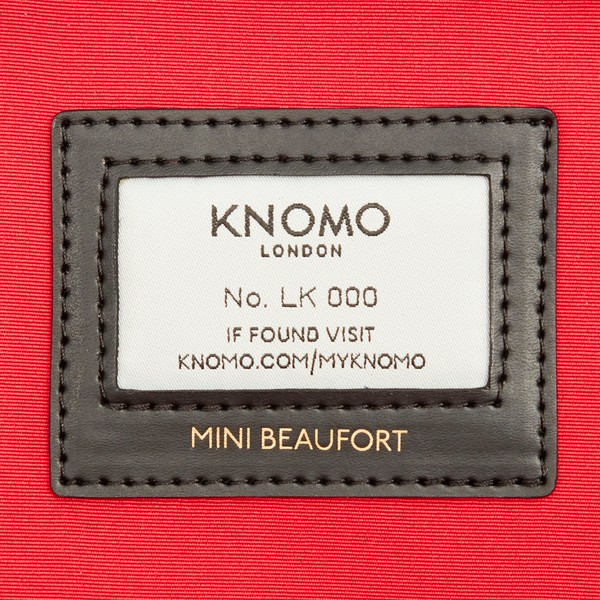 """AW18 Mayfair Mini Beaufort Backpack 12"""" 119-416-BLK2 Closeup Inside Logo"""