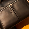 Audley Slim Leather Tote Black 120-101-BLK