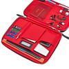 AW18 Knomad Tech Organiser 10.5 159-068 NAVY Side Open with Items