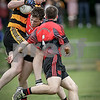 EEEjob 17/07/2016  SPORT IFC Mitchelstown v Glenville played in Fermoy.  Mitchelstown's Killian Roche and partner go in hard against thier Glenville apponent during Sunday's game in Fermoy.   Picture: Andy Jay