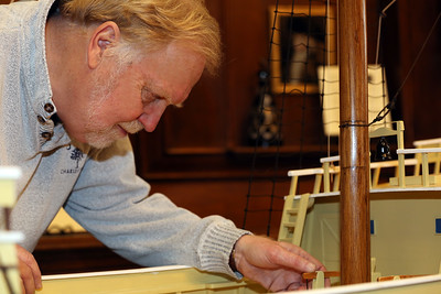 Maritime Artist Terry Geaghan Checks the Rigging