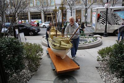 The Boston Mayflower Moves Inside
