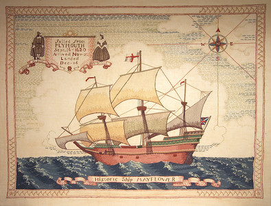 Mayflower embroidery