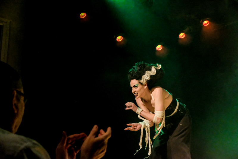stilted burlesque act missy malone at the pound arts cnetre corsham
