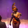 burlesque artiste velma von bonbon interacts with the audience