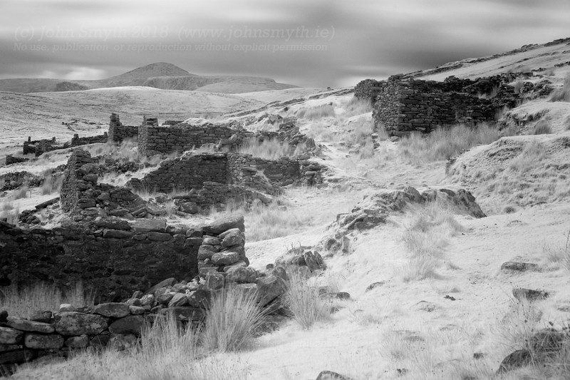 "At the foot of Achill's highest mountain (Sliabh Mor)off the coast of Mayo lies <a href=""http://www.achilltourism.com/deserted.html"">a deserted village</a>. Picture was shot as infrared."