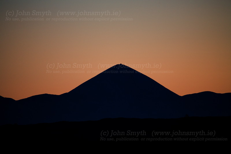Croagh Patrick at sunset.