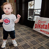 John DiNatale, the grandson of Mayor Stephen DiNatale, hands out during the fundraising event for DiNatale's campaign held at Oak Hill Country Club and sponsored by Ken Ansin and Jeff Crowley on Wednesday, September 20, 2017. SENTINEL & ENTERPRISE / Ashley Green