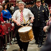 Rick Kazanjian, of the George S. Talcott Post 10 American Legion Band, is followed by the Fitchburg Fire and Police Departments during Mayor Stephen DiNatale's State of the City Address at FHS on Wednesday, February 8, 2017. SENTINEL & ENTERPRISE / Ashley Green