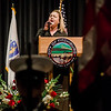 Shawna Babineau sings the National Anthem during Mayor Stephen DiNatale's State of the City Address at FHS on Wednesday, February 8, 2017. SENTINEL & ENTERPRISE / Ashley Green