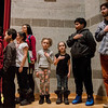 Children from the United Neighbords of Fitchburg lead the Pledge of Allegiance during Mayor Stephen DiNatale's State of the City Address at FHS on Wednesday, February 8, 2017. SENTINEL & ENTERPRISE / Ashley Green