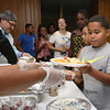 Carlos Troche, 8, gets his lunch at the New Life Spanish Christian Church summer program on Thursday. SENTINEL & ENTERPRISE/JOHN LOVE