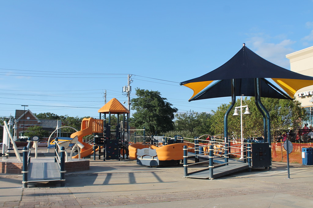 . Kristi Garabrand - The News-Herald� <br> Playground equipment for the Miracle League Inclusive Playground is installed and waiting specialized padding to be put in place prior to the mid September grand opening.