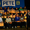 KRISTOPHER RADDER — BRATTLEBORO REFORMER<br /> Democratic presidential candidate South Bend, Ind., Mayor Pete Buttigieg holds a town hall meeting at The Colonial Theatre, in Keene, N.H., on Thursday, Jan. 2, 2020. An estimated 850 people attended the event where he talked on issues of climate change, sustainable agriculture, and choices for health insurance.