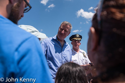 Mayor de Blasio & NYPD Chief of Department O'Neill Visit Orchard Beach 8-7-16