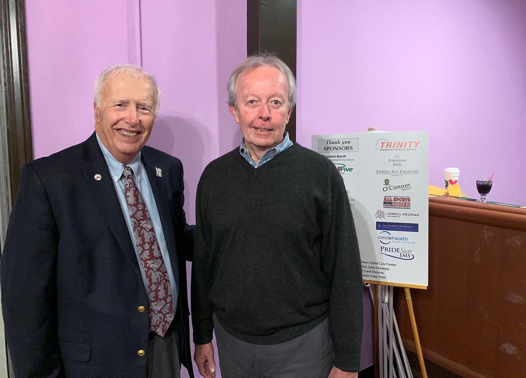 . Mayor William Samaras and City Councilor, state Sen. and former Mayor Edward Kennedy