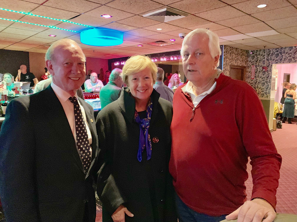 . From left, Jack O�Connor, City Manager Eileen Donoghue and John O�Connor, all of Lowell