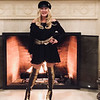 "Rock Star: Happy New Year! Ready to rock the New Year in Style with me? I always admired and loved any type of hats since a young girl. I added a cool edge to my off-the-shoulder, black-lace mini by wearing a faux fur and leather Eugenia Kim hat, and a pair of gold and black python boots! I follow through my quirky look with the gold from my boots and add a nice touch with a gold belt! Remember — anything goes so be daring in ""2018!"""