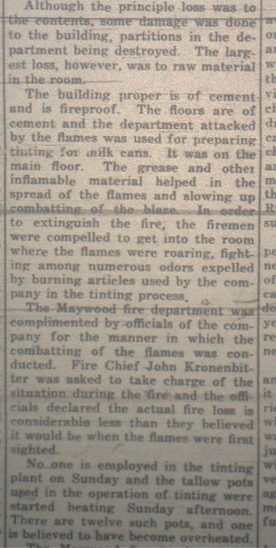 BELLWOOD PLANT FIRE PART 2