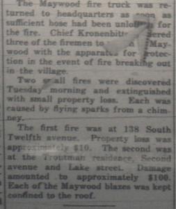 SMALLER FIRES 1919