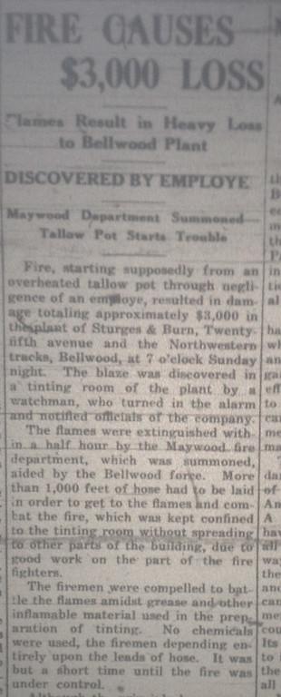 BELLWOOD PLANT FIRE 12/18/19