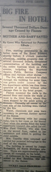 FIRE HOTEL EDWARDS 1919