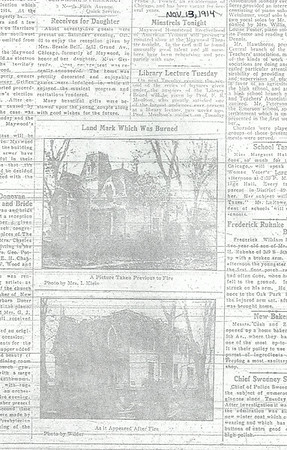 One of Maywoods first homes burned