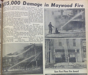 OFFICE SUPPLY STORE BURNS 1965