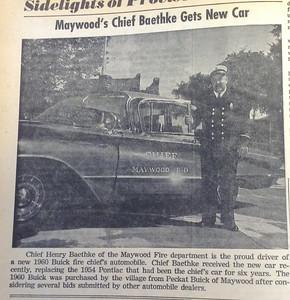 Chief Henry Baethke gets new car