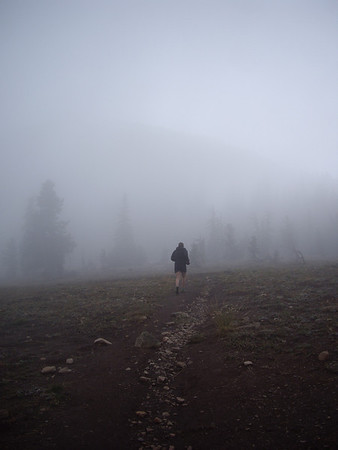 Fog on the Goat Peak Lookout trail.