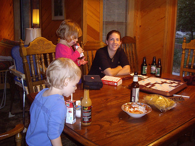 Laura and her new friends.