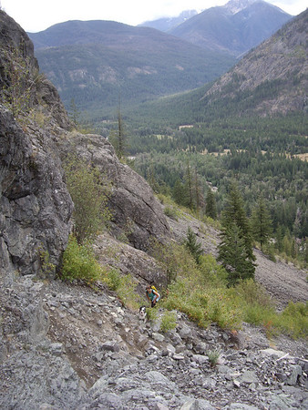 Jen and Makiah on the way up to Prime Rib.