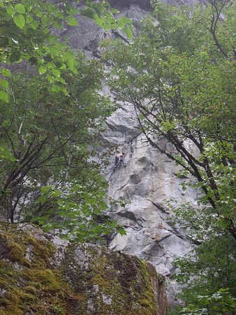 Patrick entering the business on his project.