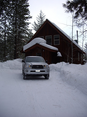 The cabin we rented.