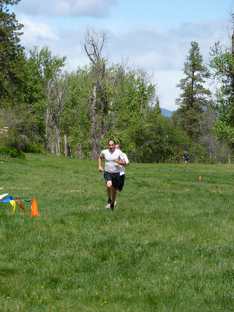 Chris sprinting to the finish!