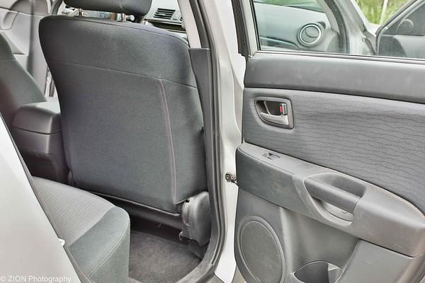 Backseat passenger side door open