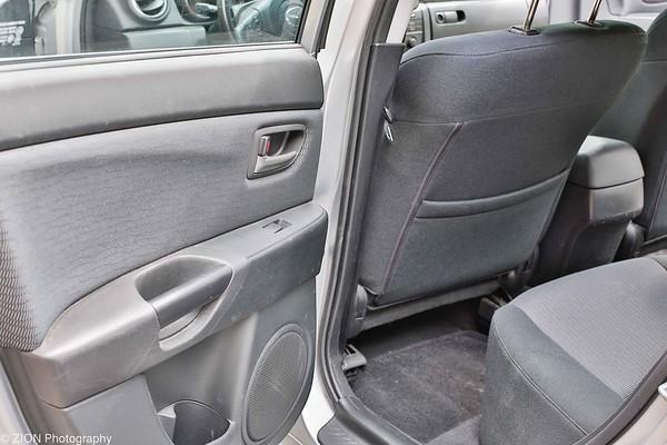Back seat driver side door open