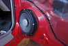 """Aftermarket speaker and speaker adaptor ring from   from  <a href=""""http://www.car-speaker-adapters.com/items.php?id=SAK006""""> Car-Speaker-Adapters.com</a>   installed"""