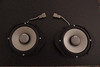 """Aftermarket speakers mounted to  speaker adaptor rings  from  <a href=""""http://www.car-speaker-adapters.com/items.php?id=SAK006""""> Car-Speaker-Adapters.com</a>   and wiring harnesses"""
