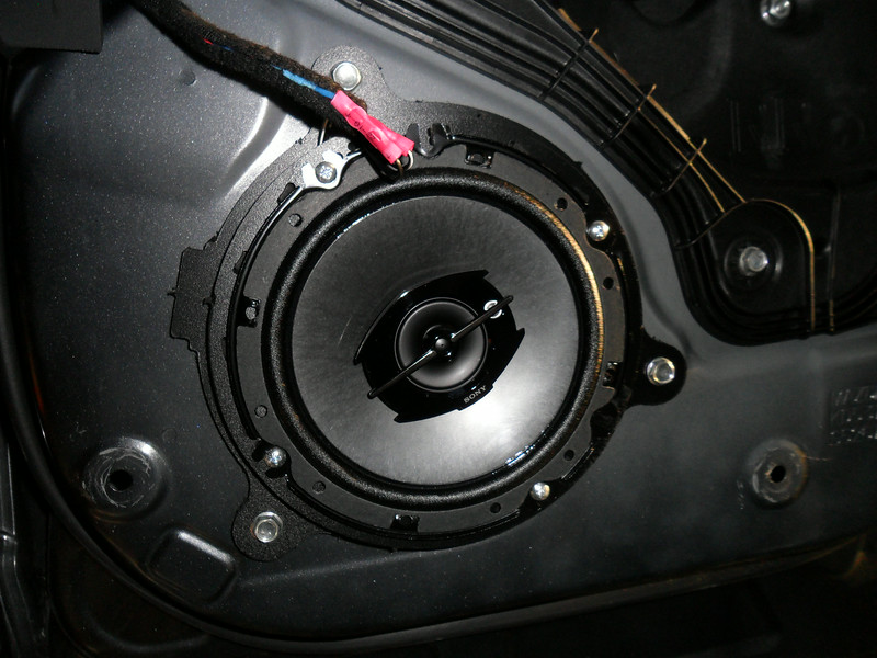 """A closer look at the speaker mounted to the adapter   from  <a href=""""http://www.car-speaker-adapters.com/items.php?id=SAK112""""> Car-Speaker-Adapters.com</a>  .          I wouldn't have changed my speakers without the adapters."""